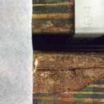 Borer damage to wood